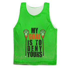 Guys Lacrosse Pinnie - My Goal Is To Deny Yours