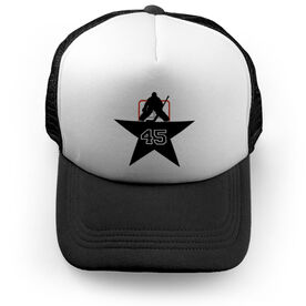 Hockey Trucker Hat Star Goalie