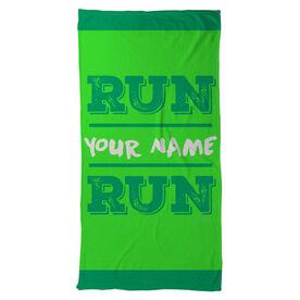 Running Beach Towel Run Your Name Run