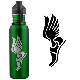 Track & Field Winged Shoes 24 oz Stainless Steel Water Bottle