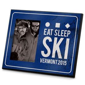 Skiing Photo Frame Eat Sleep Ski