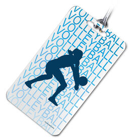 Volleyball Bag/Luggage Tag Volleyball Fade