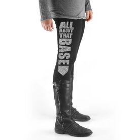 Softball High Print Leggings All About That Base