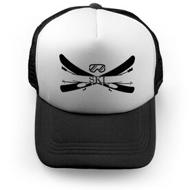 Skiing Trucker Hat - Crest