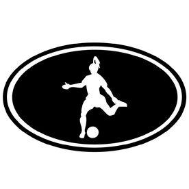 Soccer Girl Silhouette Vinyl Decal