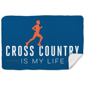 Cross Country Sherpa Fleece Blanket My Life (Male)