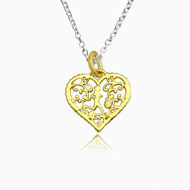 Livia Collection 14K Gold Vermeil Filigree Runner Heart Necklace