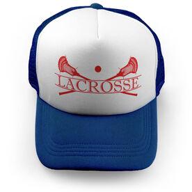 Guys Lacrosse Trucker Hat - Crest