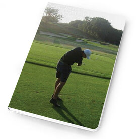 Golf Notebook Custom Photo