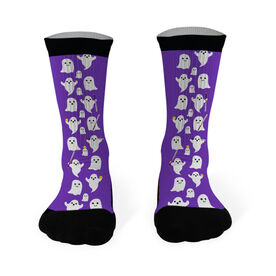 Softball Printed Mid Calf Socks Softball Ghosts