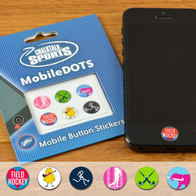 Field Hockey MobileDOTS Home Button Sticker for iPhone and iPad
