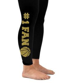 Basketball Leggings #1 Fan with Basketball