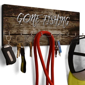 Fly Fishing Hook Board Gone Fishing