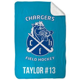 Field Hockey Sherpa Fleece Blanket Custom Team Logo