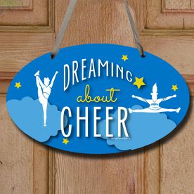 Cheerleading Oval Sign Dreaming About Cheer
