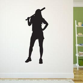 Chill Softball Girl Removable ChalkTalkGraphix Wall Decal