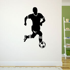 Soccer Guy Player Removable ChalkTalkGraphix Wall Decal