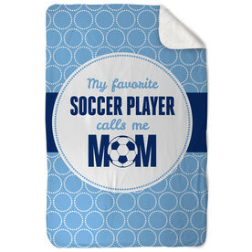 Soccer Sherpa Fleece Blanket My Favorite Player
