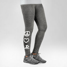 Swimming Performance Tights Peace Love Swim