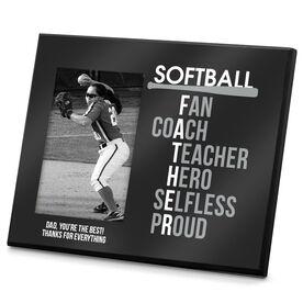 Softball Photo Frame Softball Father Words