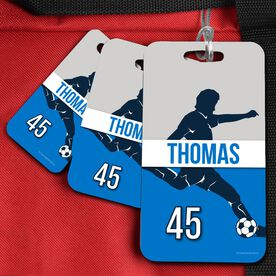 Soccer Bag/Luggage Tag Personalized Soccer Guy Name and Number