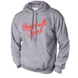 Softball Standard Sweatshirt Softball Girl Script