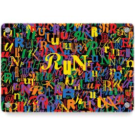 Running Metal Wall Art Panel - Run Letters