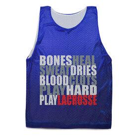 Guys Lacrosse Pinnie - Bones Saying