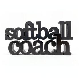 Softball Coach Wood Words