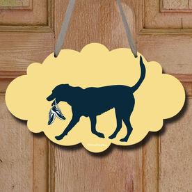 Roxi The Running Dog Decorative Cloud Sign