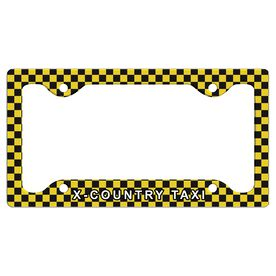 X-Country Taxi License Plate Holder