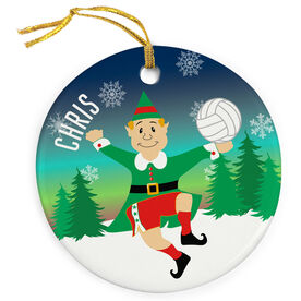 Volleyball Porcelain Ornament Christmas Elf