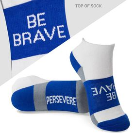 Socrates® Woven Performance Sock Be Brave (Royal)