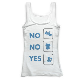 Swimming Vintage Fitted Tank Top - Yes Swim