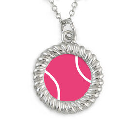 Braided Circle Necklace Tennis Ball