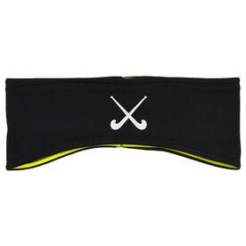 Field Hockey Reversible Performance Headband Field Hockey Crossed Sticks