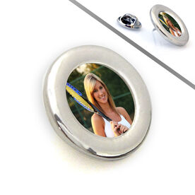 Tennis Lapel Pin Your Tennis Photo