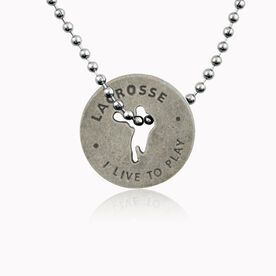 Lacrosse Pewter Token Necklace