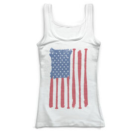 Baseball Vintage Fitted Tank Top - American Flag