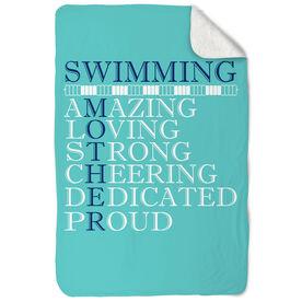 Swimming Sherpa Fleece Blanket - Mother Words