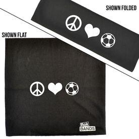 RokBAND Multi-Functional Headband - Peace Love Soccer