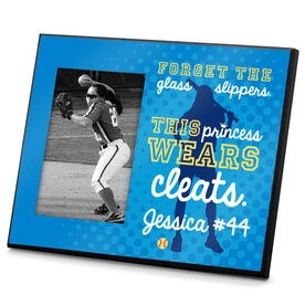 Softball Photo Frame Personalized Forget The Glass Slippers This Princess Wears Cleats