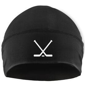 Beanie Performance Hat - Crossed Hockey Sticks