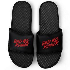 Running Black Slide Sandals - Bad Ass Runner