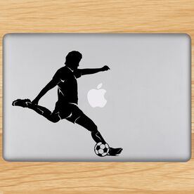Soccer Player Guy Silhouette Removable ChalkTalkGraphix Laptop Decal
