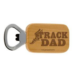 Track Dad Maple Bottle Opener