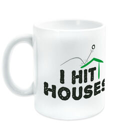 Golf Ceramic Mug I Hit Houses