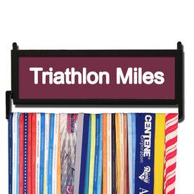 TriathletesWALL Triathlon Miles Medal Display