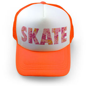 Figure Skating Trucker Hat - Floral Skate