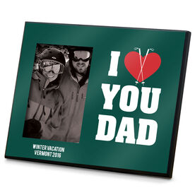 Skiing Photo Frame I Heart You Dad Ski